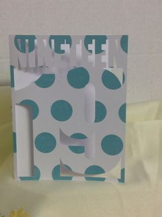 Happy Birthday 19 Card, Polka Dot , friend , family , FREE CONFETTI , Paper Cut , Teens by PatchyPeanut on Etsy