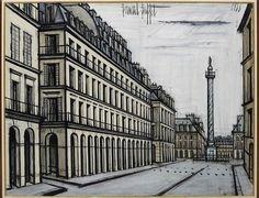 Paris la colonne vendôme by Bernard Buffet