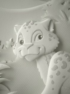 Este foi um trabalho muito legal de fazer. As três esculturas foram criadas para ilustrar o catálogo da Ninali, marca infantil da Fruto da I... 3d Paper Projects, 3d Paper Crafts, Paper Clay Art, Paper Artwork, Kirigami, Thermocol Craft, Book Sculpture, Paper Sculptures, Paper Magic