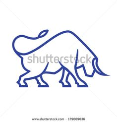 Bull Tattoos, Taurus Tattoos, Line Tattoos, Doodle Drawings, Animal Drawings, Cute Drawings, Symbol Design, Logo Design, Toro Logo