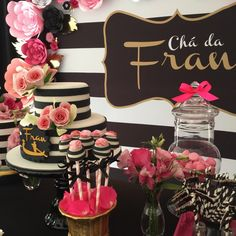 decoração de chá de panelas 23rd Birthday, Birthday Parties, Kate Spade Party, 21st Party, Mothers Day Brunch, Backdrops For Parties, Christmas Wedding, Wedding Decorations, Rose
