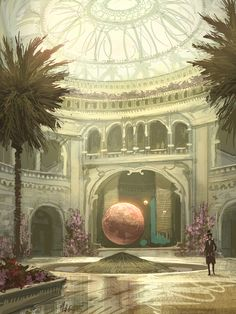 The information sphere just inside the gates of Horizon will tell you how to reach your destination.  By Matt Gaser!