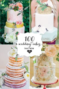 100 Wedding Cakes That WOW - Get wedding cake inspiration for every style and color possible here! Casual Wedding, Chic Wedding, Dream Wedding, Beautiful Wedding Cakes, Beautiful Cakes, Cupcakes, Cupcake Cakes, Wedding Desserts, Wedding Decorations