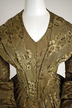 Dress Date: ca. 1838 Culture: American Medium: silk Dimensions: [no dimensions available] Credit Line: Gift of George Coggill and James C. Coggill, 1968