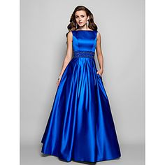 Ball Gown Bateau Floor-length Satin Evening Dress – USD $ 179.99  not really my style, but it is a beautiful dress, and if done in white could function as a wedding dress.