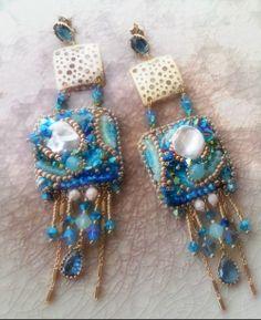 Embroidery Earrings Serena Di Mercione Creation