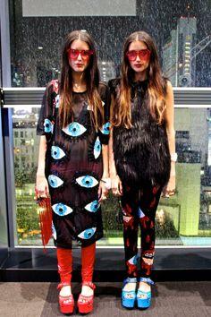 Stef and Jess Dadon Tokyo Fashion Week SS15 street style #howtwolive -LaiaMagazine