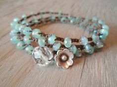Collier de perles au crochet Boho / 3 x bracelet / 2 par slashKnots