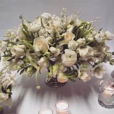 """""""Setting up sample flowers for a sweet and informal christening lunch ... #wildatheart #luxuryevents"""""""
