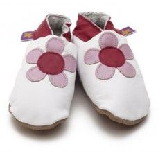 Poppy White Soft Leather Baby Shoes Made and supplied by Star Child Shoes in #Leicestershire - £18.00