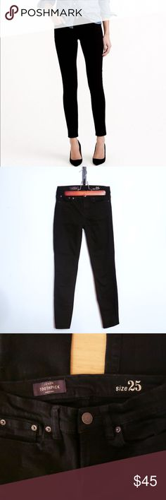 💓NEW LISTING💓 J Crew Black Toothpick Pants Ladies, this is a steal. These pants have been worn twice and are in new condition. I paid top dollar for these and they are high quality pants. They deserve some love!😝 Bundle them with my J. Crew vintage cotton tee and save💵 J. Crew Jeans Skinny