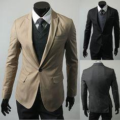 Men s Fashion Casual Slim Fit Elegant Suit Costume Homme, Costumes Pour  Hommes, Costumes Coupé ee243e59313