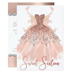Birthday Card Minnie In Pink Sparkly Fluffy Dress Rhinestones Looking Shy Sweet