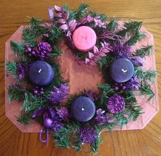 Make Pink and Purple Advent Candles