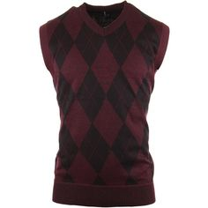 Enimay Mens Argyle V-Neck Golf Sweater Vest (Many Colors Available) (26 CAD) ❤ liked on Polyvore featuring men's fashion, men's clothing, men's sweaters, mens sweaters, mens v neck sweater, mens argyle sweater, mens golf sweaters and mens vneck sweater