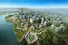 Tianjin Eco-City. Il progetto di Green City di Tianjin (meglio nota come Tientsin in Italia per avere ospitato una concessione italiana fino al 1943) prevede la realizzazione di un quartiere dall'altissima efficienza energetica che ospiterà la bellezza di 350.000 abitanti in 30 km quadrati.