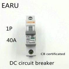1P 40A DC 250V DC Circuit Breaker MCB for PV Solar Energy Photovoltaic System Battery C curve CB Certificated Din Rail Mounted