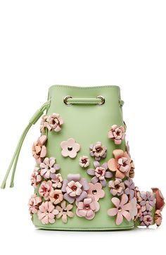 Kasper Flowers Leather Shoulder Bag