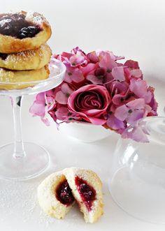 sernikowe ciasteczka z wiśniami