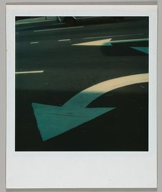 Walker Evans, Street Arrows, 1973,  photograph, The Metropolitan Museum of Art