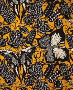Dagobert Peche's vibrant Swallowtail design done for the Weiner Werkstätte c. 1913.