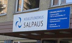 Koulutuskeskus Salpauksen sisäänkäynti kyltti