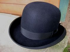 Vintage Derby Hat Working Men's Hard Hat Bowler Hat 1930s Fashion Accessory. $65.00, via Etsy.