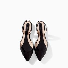 Image 2 of SLING BACK LEATHER SANDALS from Zara