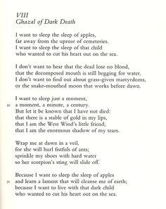 Ghazal of Dark Death by Federico García Lorca, trans. Catherine Brown