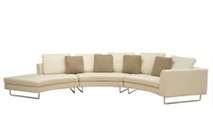large round curved sofa sectional | Baxton Studio Lilia Curved 3-Piece Tan Fabric Modern Sectional Sofa ...