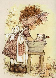 ilclanmariapia: Holly Hobbie , Sarah Kay e le bimbe Sunbonnet Sue Holly Hobbie, Sara Key Imagenes, Vintage Pictures, Cute Pictures, Papier Kind, Sara Kay, Foto Poster, Cute Little Girls, Illustrations