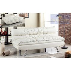 Best Master Furniture Adjustable Sofa Bed Futon Ivory), Beige Off-White, Size Full Futon Sofa Bed, Sleeper Sofa, Couch, Comfortable Futon, Living Room Furniture Online, Entertainment Furniture, Studio Living, High Quality Furniture, Sofa