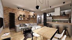 Salon z aneksem kuchennym - zdjęcie od MOTHI.form