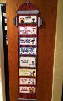 Adorable Dog themed clip chart for behavior management!!!