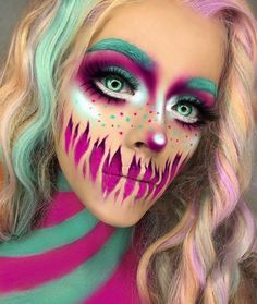 Halloween Make up Idea Clown Makeup, Scary Makeup, Costume Makeup, Ghost Makeup, Horror Makeup, Voodoo Doll Makeup, Zombie Makeup, Amazing Halloween Makeup, Halloween Makeup Looks