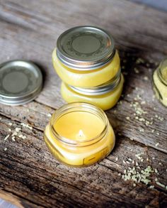 How to Make Beeswax Candles in the Oven | http://hellonatural.co/how-to-make-beeswax-candles-in-the-oven/