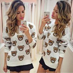 blusa tricot de ursinho - Pesquisa Google