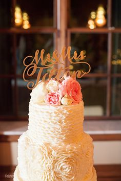 Monogrammed Topper / Kristen Edwards Photography / The Dominion House