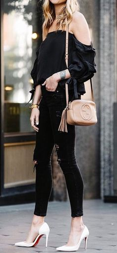 all black everything + nude details1