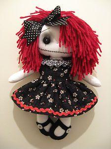Gothic Raggedy Cloth Rag Doll
