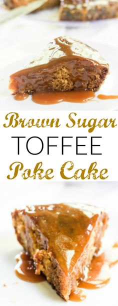 Fall is around the corner why  not start it off with this delicious and easy Brown Sugar Toffee Poke Cake!