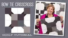 """Make a """"Bow Tie Crisscross"""" Quilt with Jenny Doan of Missouri Star (Video Tutorial) Jenny Doan Tutorials, Msqc Tutorials, Quilting Tutorials, Quilting Ideas, Art Quilting, Modern Quilting, Longarm Quilting, Karen O'neil, Make A Bow Tie"""