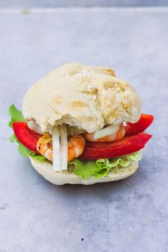 *cakes & colors: Homemade shrimp burger
