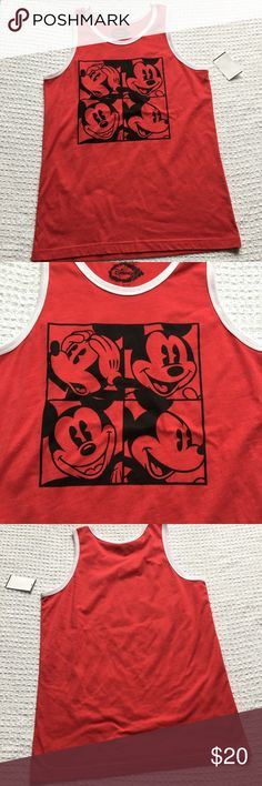 NEW Mickey Mouse Disney Men's Muscle Tank Brand new with attached tags.  ❌Final markdown, no offers❌ Disney Shirts Tank Tops