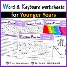 Microsoft Word Microsoft Word, Computer Keyboard, School Ideas, Knowing You, Worksheets, Coding, Teacher, Student, Technology