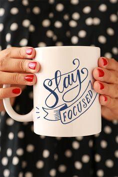 'Stay Focused' Mug