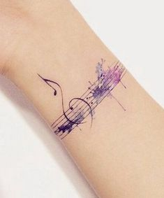 10 Tattoos to Move the Soul of any Music Lover - 10 Tattoos to Move the Soul of any Music Lover – Jhaiho – Medium - Music Wrist Tattoos, Music Tattoo Foot, Music Staff Tattoo, Small Music Tattoos, Music Lover Tattoo, Wrist Tattoo Cover Up, Music Tattoo Designs, Tattoo Designs For Women, Foot Tattoos