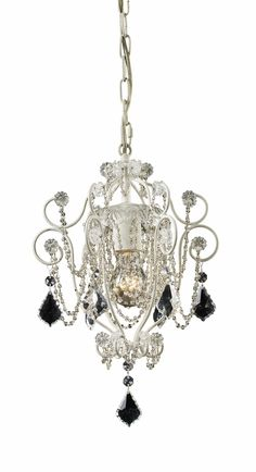 Perfect chandaliers fo a girl's bedroom painted Tiffany blue with black accents!