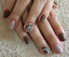 50 Trendy Fall Nail Art Design For 2019 These trendy Nail Designs ideas would gain you amazing compliments. Check out our gallery for more ideas these are trendy this year. Cute Nail Polish, Glitter Nail Polish, Cute Nails, Glow Nails, Nails 2017, Fall Nail Art Designs, Cool Nail Art, Trendy Nails, Nail Artist