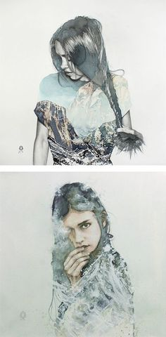 blendscapes by oriol angrill jordà, watercolour portrait, illustration, art insperation (scheduled via http://www.tailwindapp.com?utm_source=pinterest&utm_medium=twpin&utm_content=post548783&utm_campaign=scheduler_attribution)